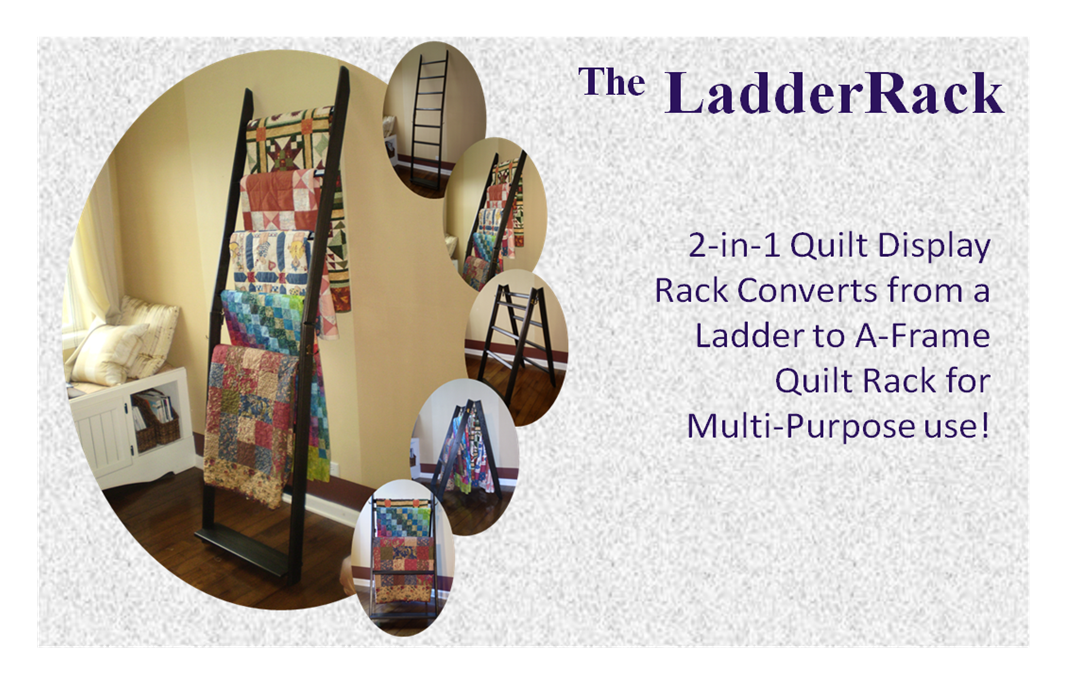 the LadderRack Quilt Display Rack