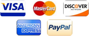 We Proudly Accept Visa Mastercard American Express Discover and PayPal