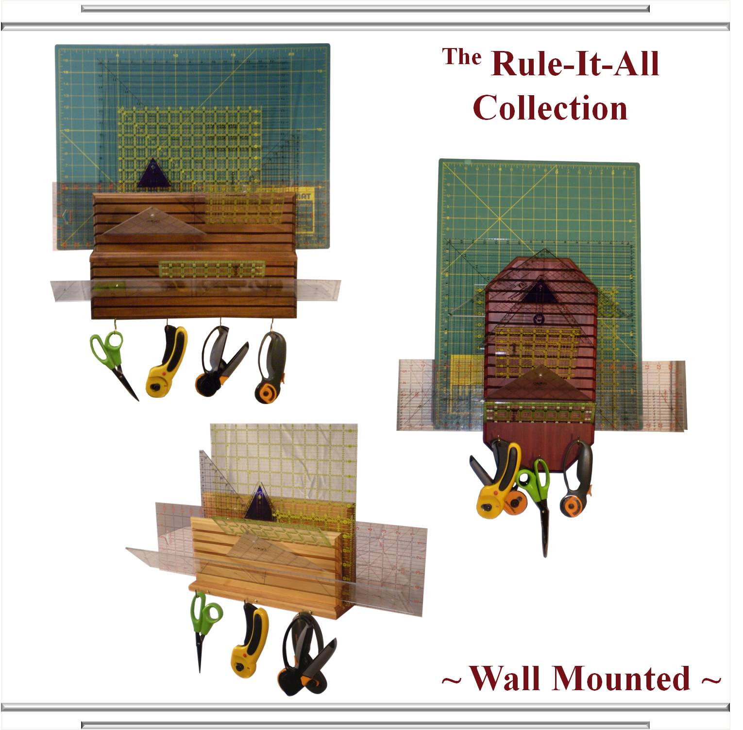 rule-it-all quilting acrylic ruler & accessory organizers
